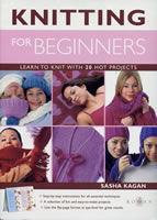 Knitting for Beginners by Sasha Kagan book cover