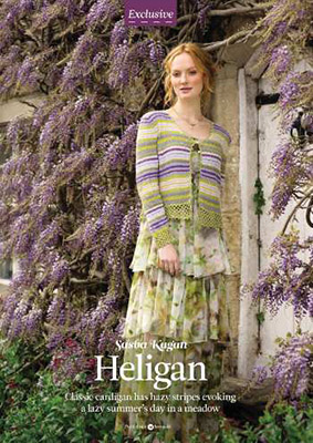 Heligan Cardigan on a page from The Knitter magazine