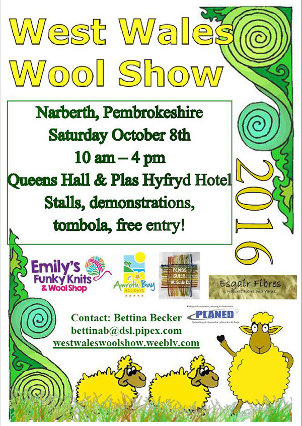 flier for West Wales Wool Show 2016