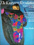 The front cover of 'The Knitwear Revolution' showing Sandy Black's Vase of Flowers coat design