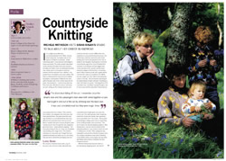 Interview with Sasha from Knitting magazine December 2008 - pages 1 & 2