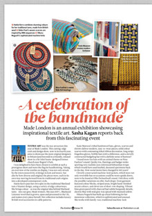 article by Sasha Kagan about Made London - Marylebone, taken from The Knitter magazine issue 93